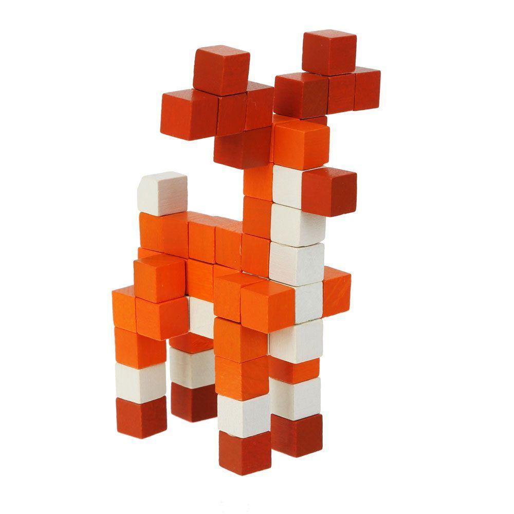 Joc Din Lemn Cubika, Set De Constructii World Animal Series imagine