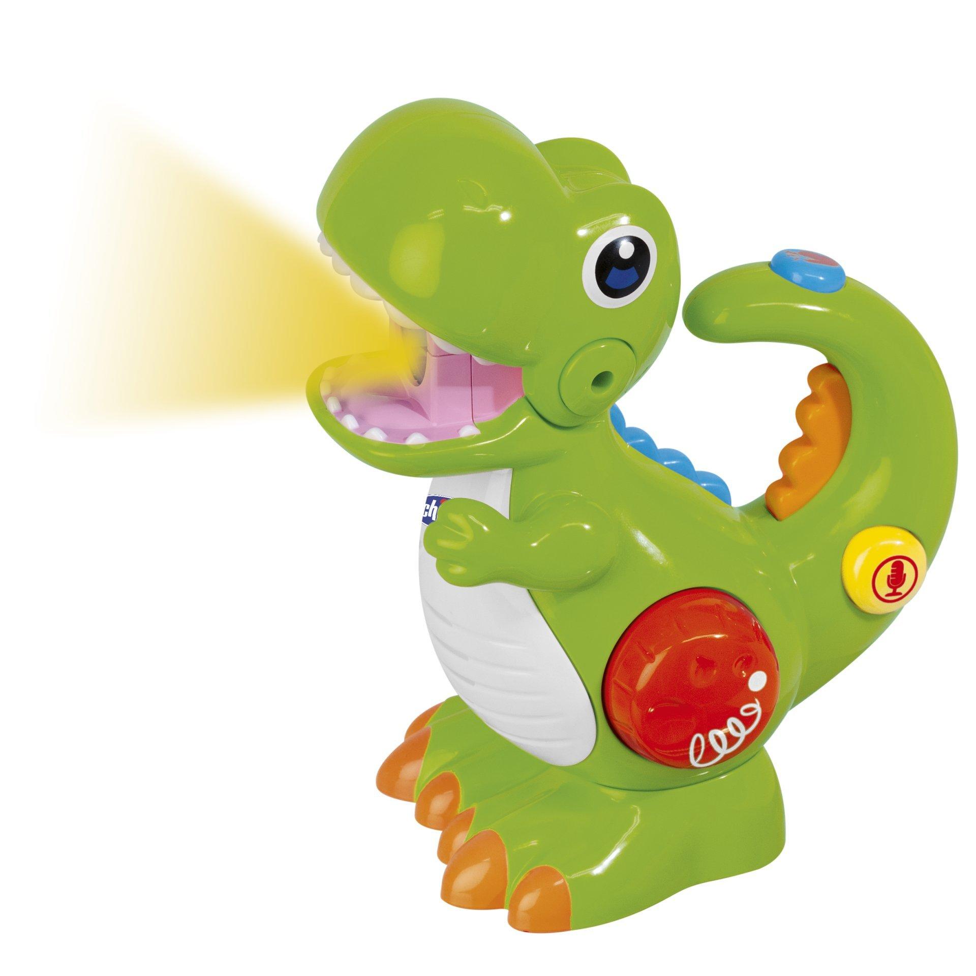 Jucarie Chicco Dinozaurul T-Rec, Cu Inregistrare Vocala Si Lanterna, 2 -5 Ani imagine