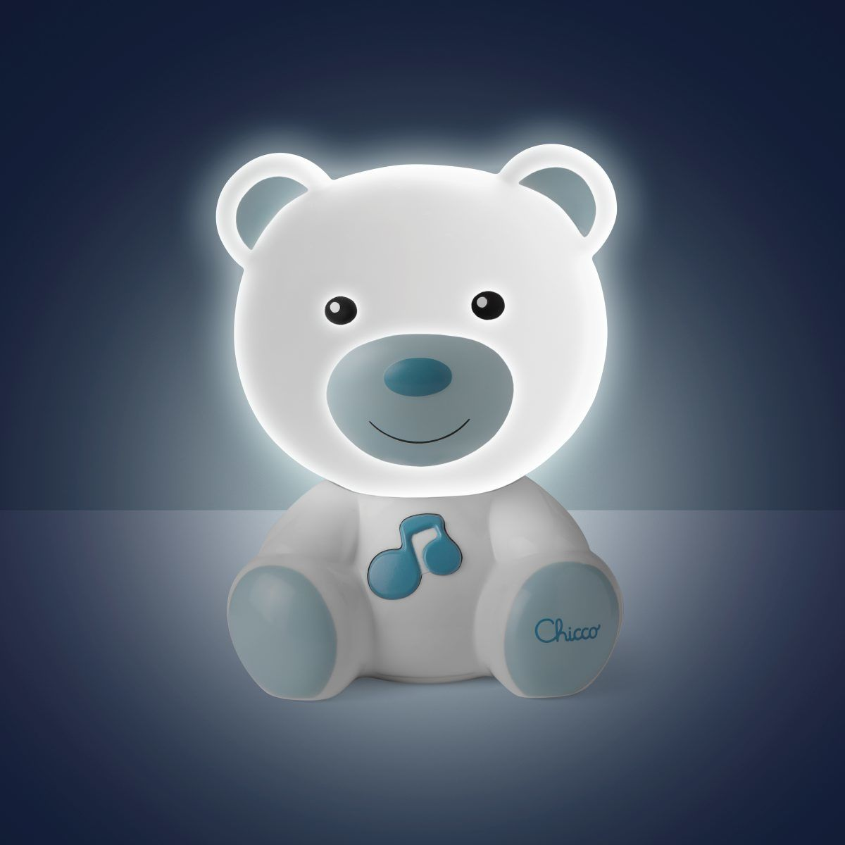 Jucarie Chicco Lampa Ursulet, Albastru, 0luni+ imagine