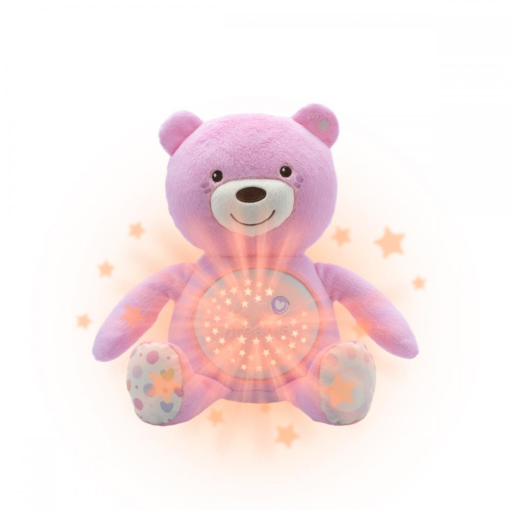 Jucarie Cu Proiectie Chicco Ursuletul Bebelus, Roz, 0luni+
