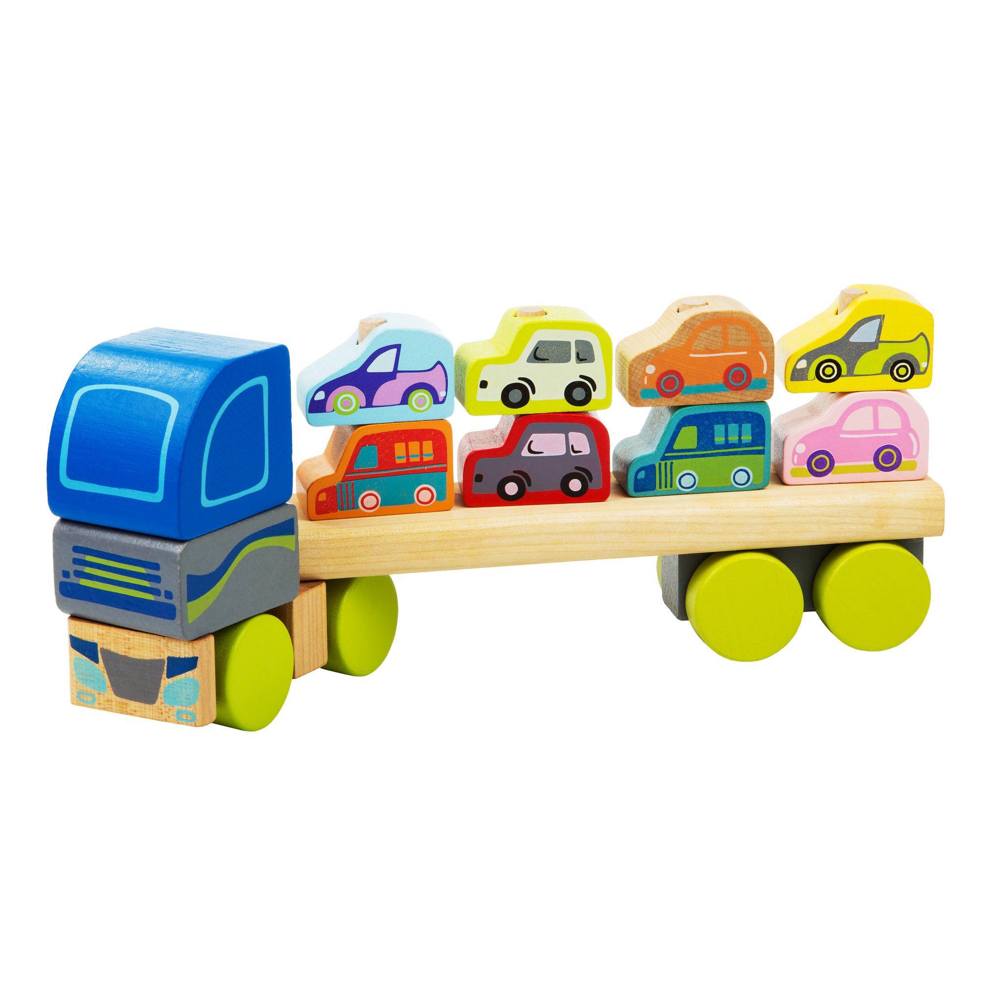 Jucarie Din Lemn Cubika, Camion Pentru Masini imagine
