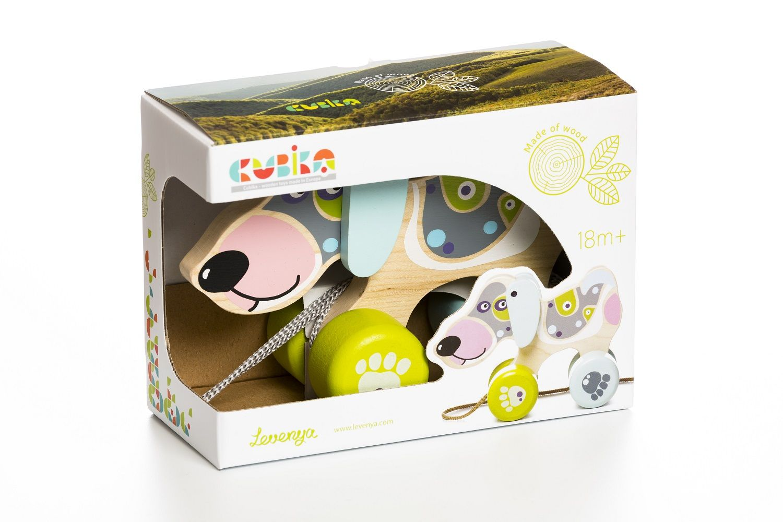 Jucarie Din Lemn Cubika, Happy Puppy imagine