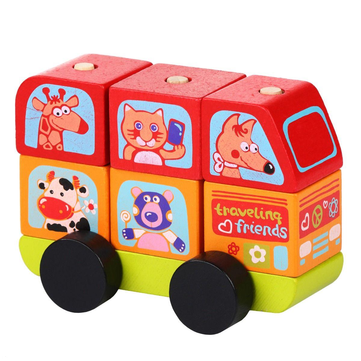Jucarie Din Lemn Cubika, Mini Bus imagine