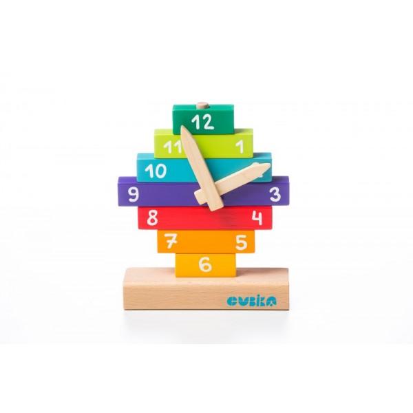 Jucarie Din Lemn Cubika Sa Invatam Ceasul, 3ani+ imagine