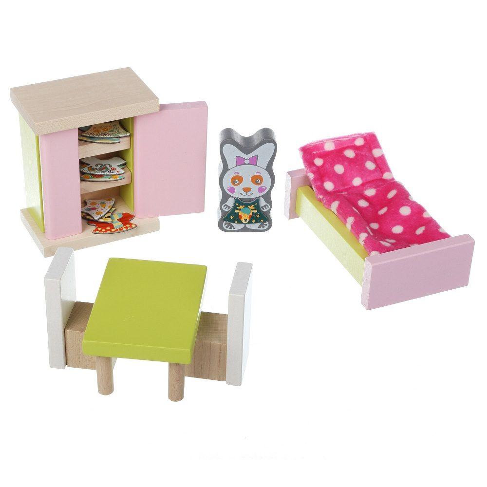 Jucarie Din Lemn Cubika, Set Constructii My Bedroom imagine