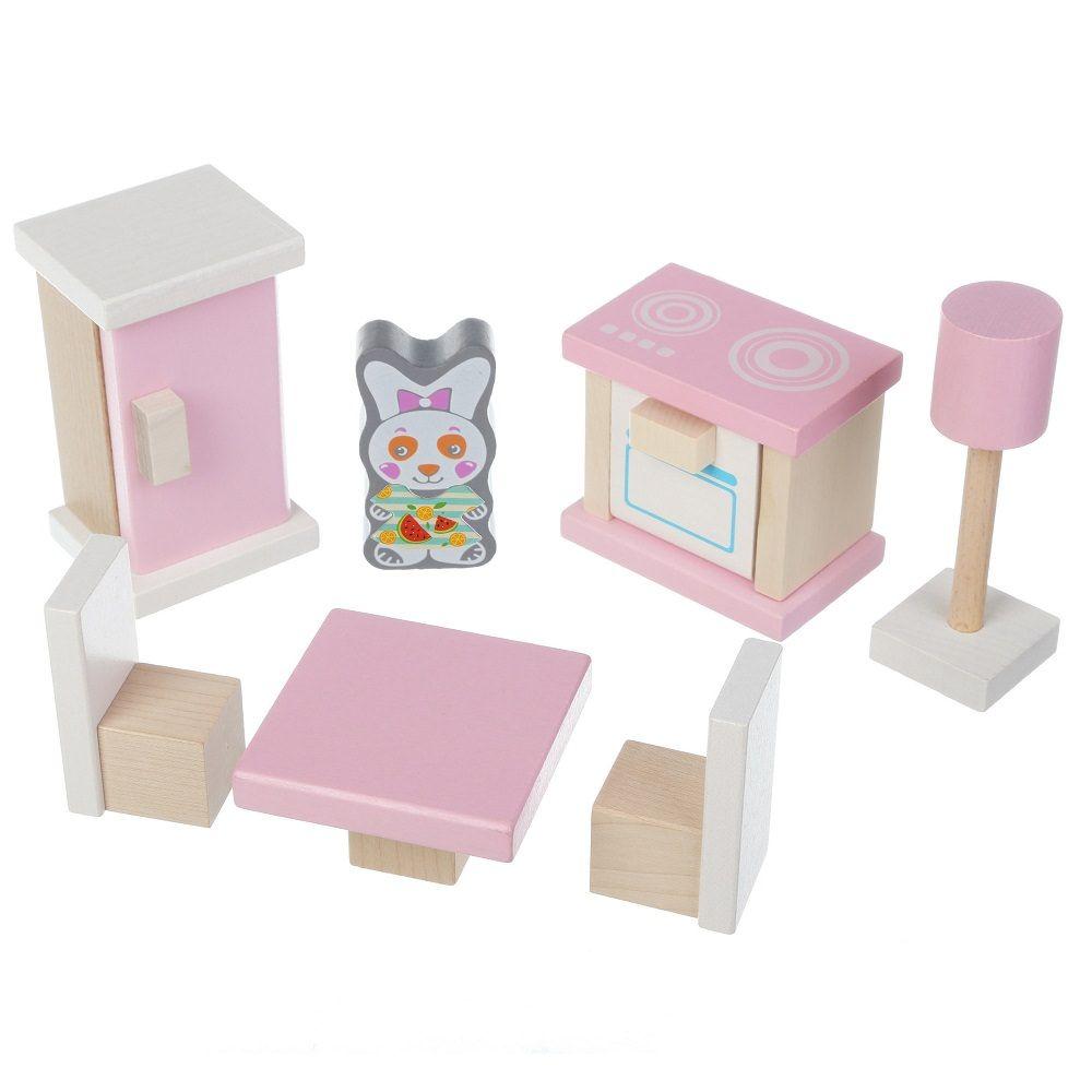 Jucarie Din Lemn Cubika, Set Constructii My Kitchen imagine