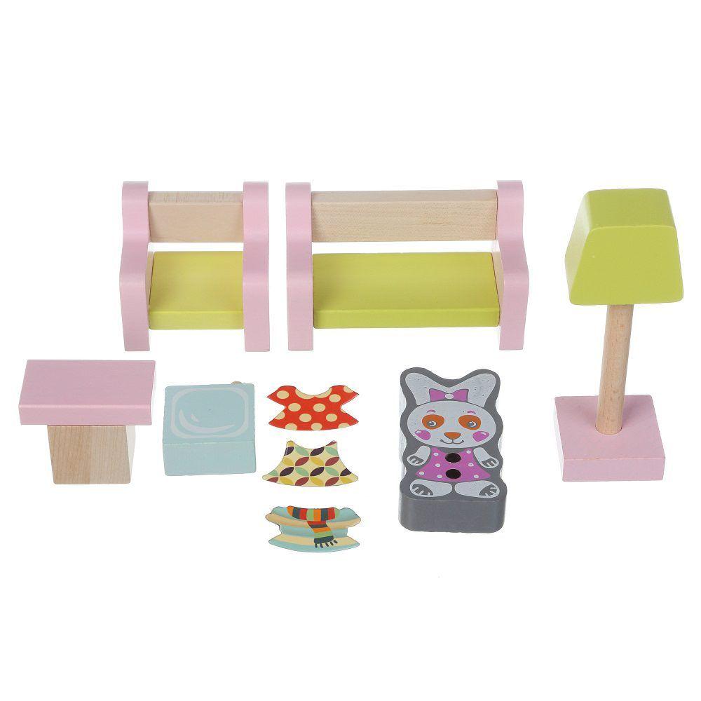 Jucarie Din Lemn Cubika, Set Constructii My Living Room imagine