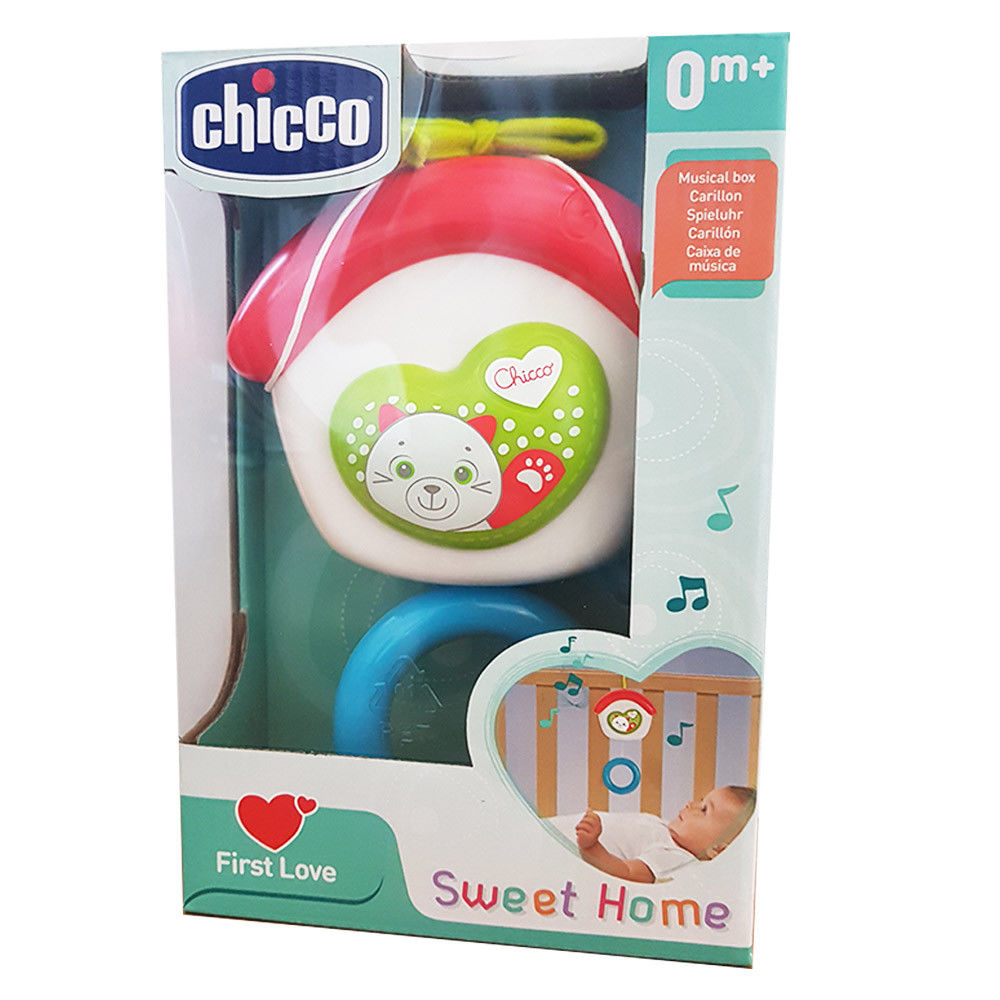 Jucarie muzicala Chicco pentru patut Casa, dulce casa, 0luni+