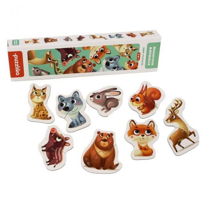 Jucarie puzzle Cubika Animalutele de la munte 2ani+