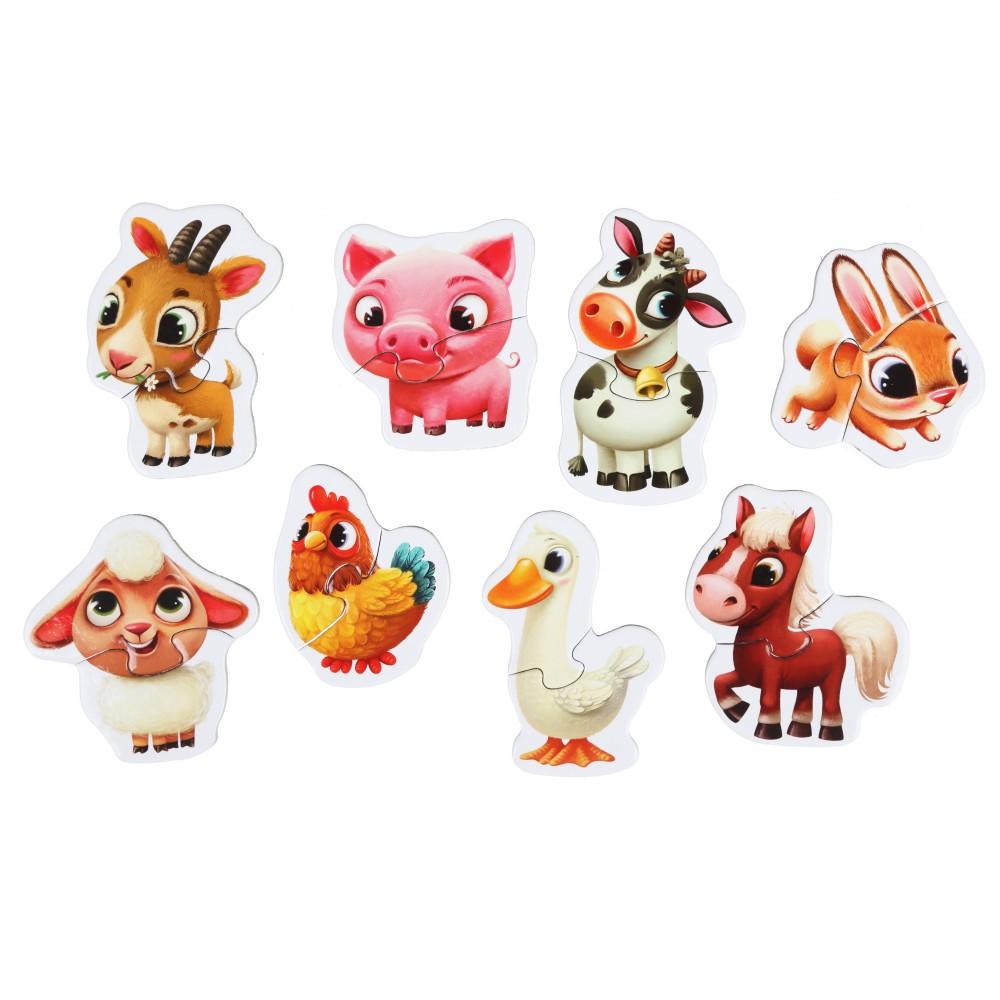 Jucarie puzzle Cubika Ferma animalelor 2ani+