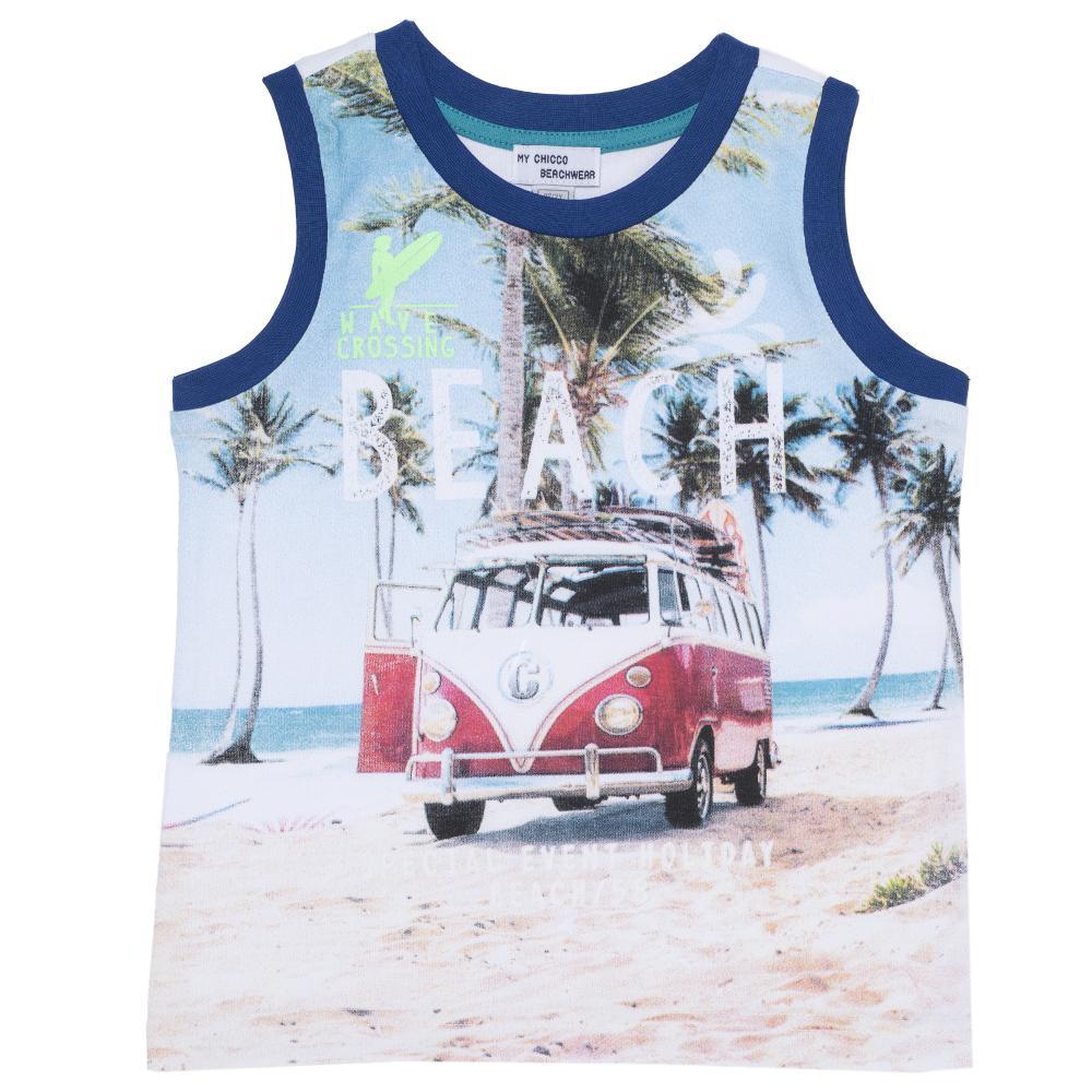 Maieu Plaja Pentru Copii, Chicco, Albastru Cu Model, 06036 imagine