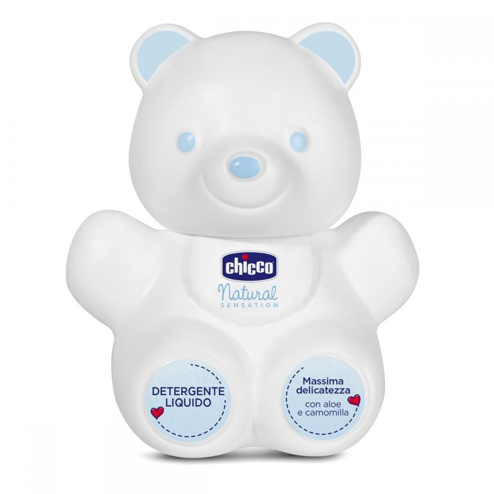 Lichid pentru curatare Teddy Bear Chicco Natural Sensation 300ml, 0luni+