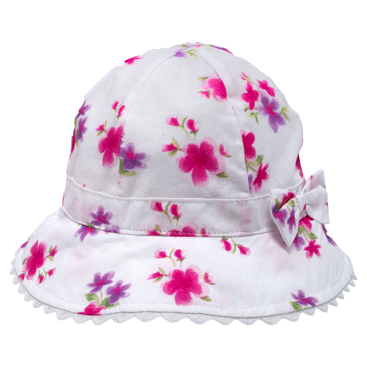 Palarie fetite Chicco Blis, fundita, alb cu roz, 04473 din categoria Caciuli, Sepci