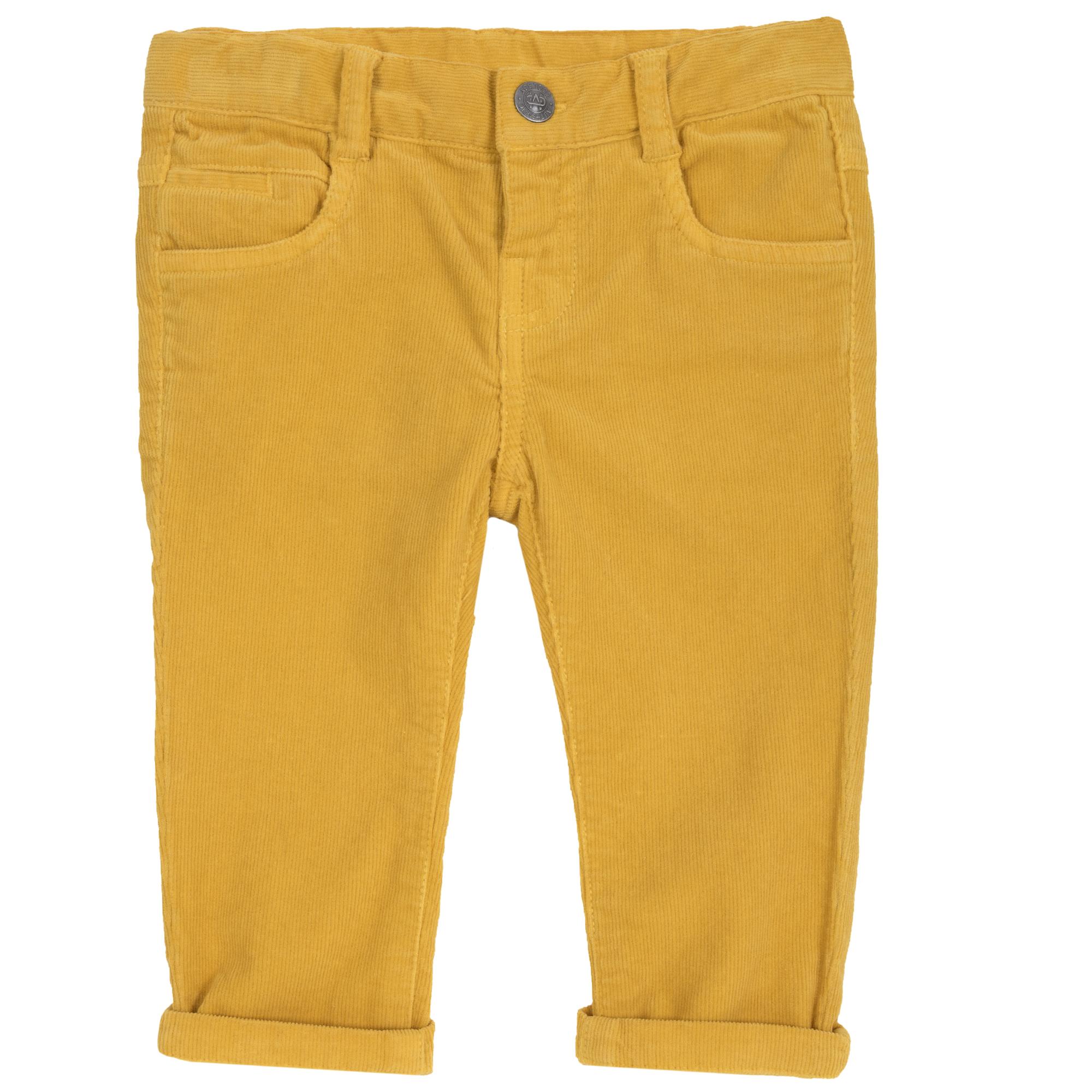 Pantalon copii Chicco, galben