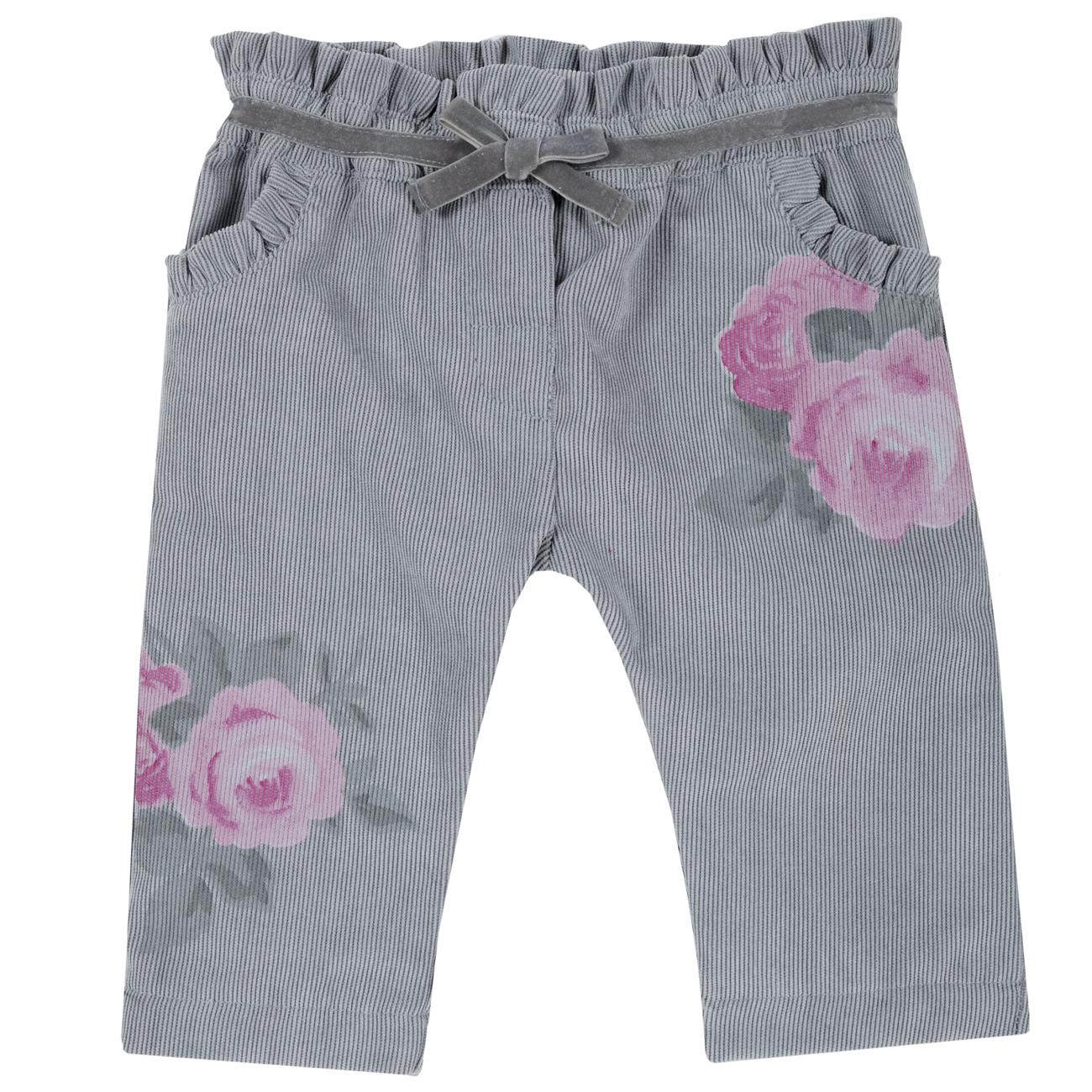 Pantalon copii Chicco, gri deschis