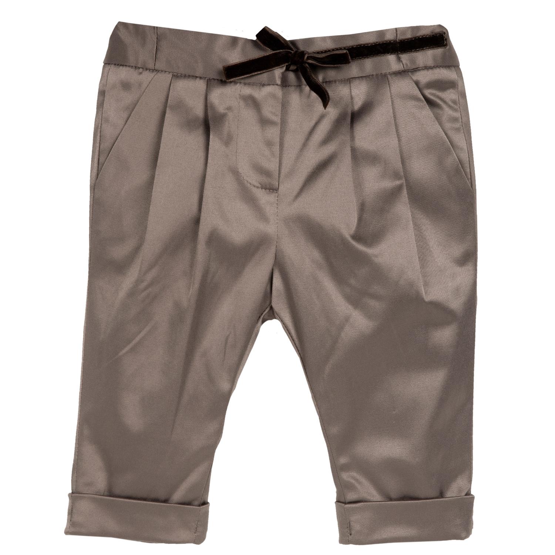 Pantalon copii Chicco, maro cu albastru