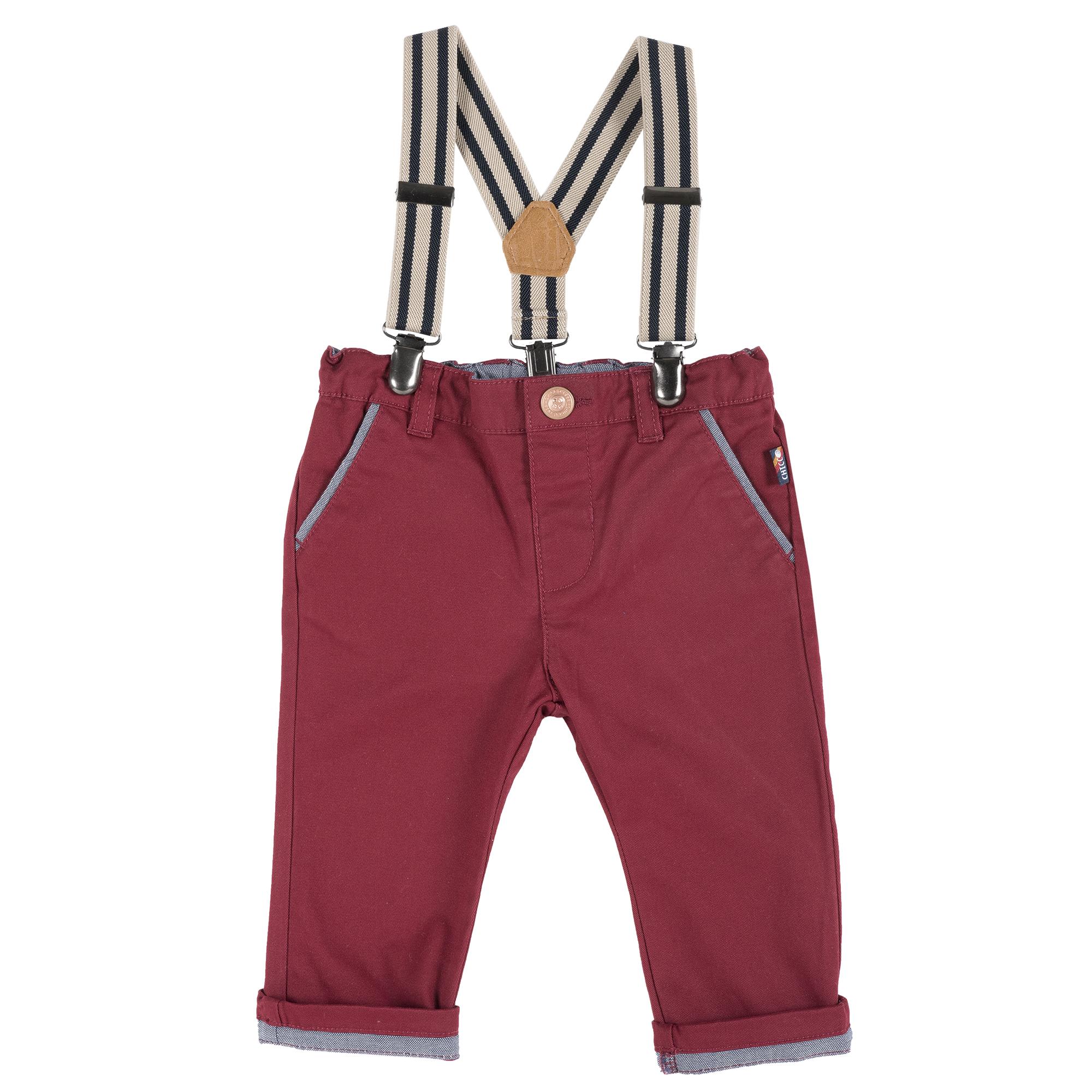 Pantalon copii Chicco, visiniu din categoria Pantaloni copii