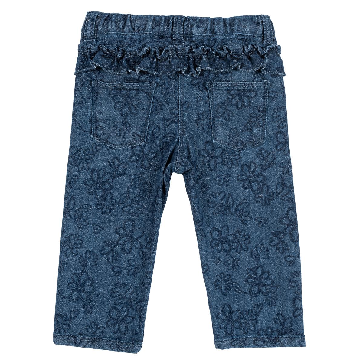 Pantalon Lung Copii Chicco, Denim Elastic, Bleumarin Cu Model, 24971 imagine
