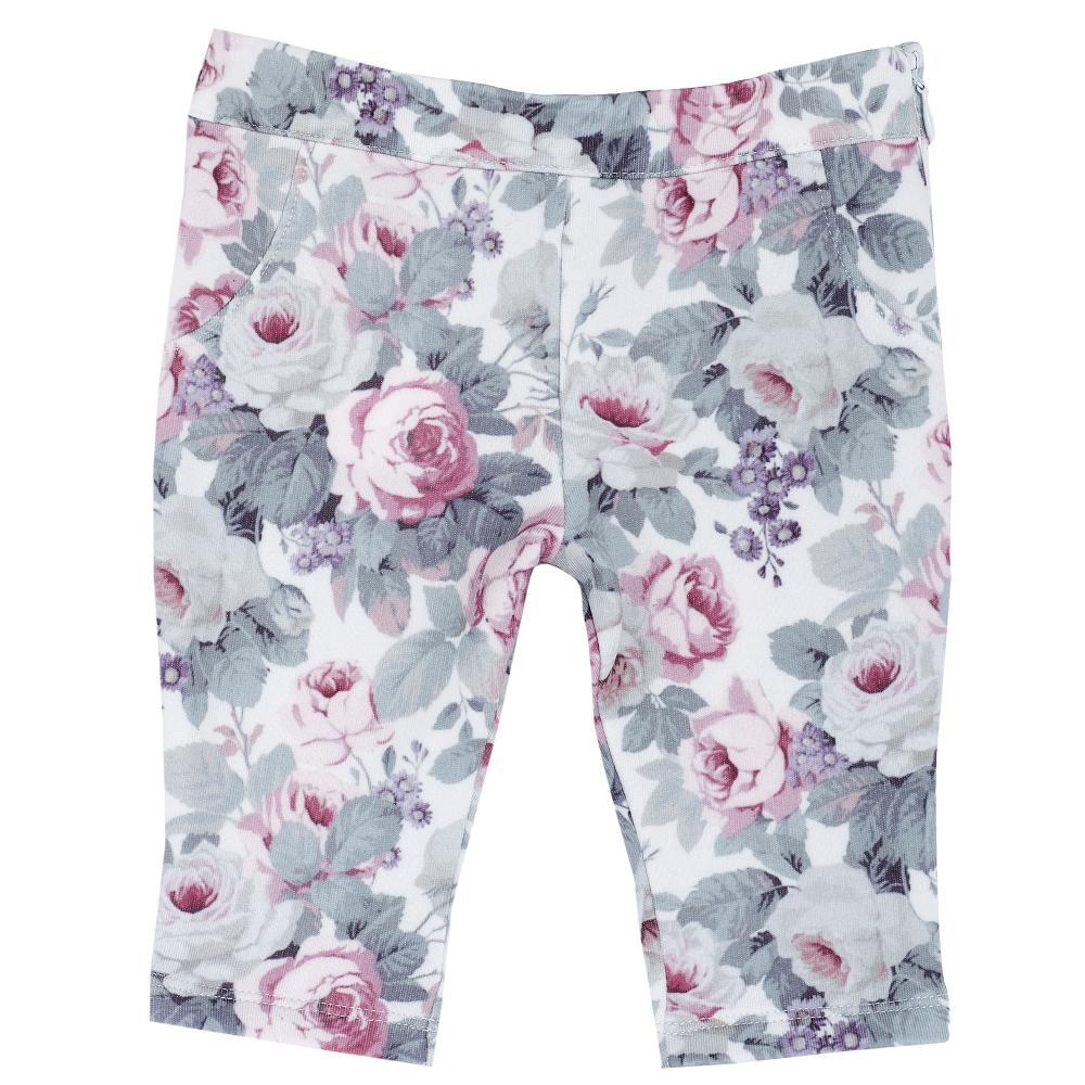 Pantalon lung copii Chicco, floricele, fete, 24473
