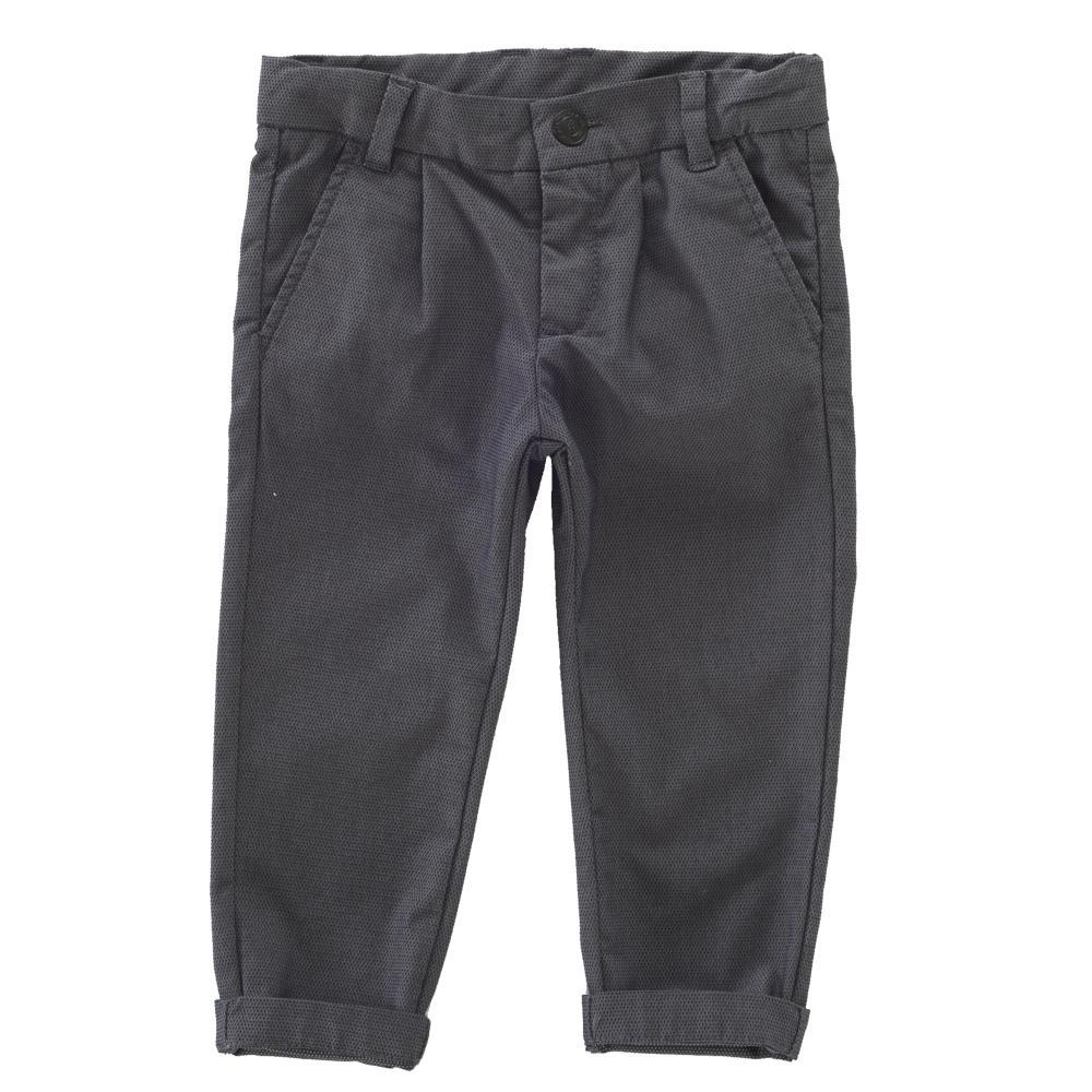 Pantalon Lung Copii Chicco, Gri Cu Negru
