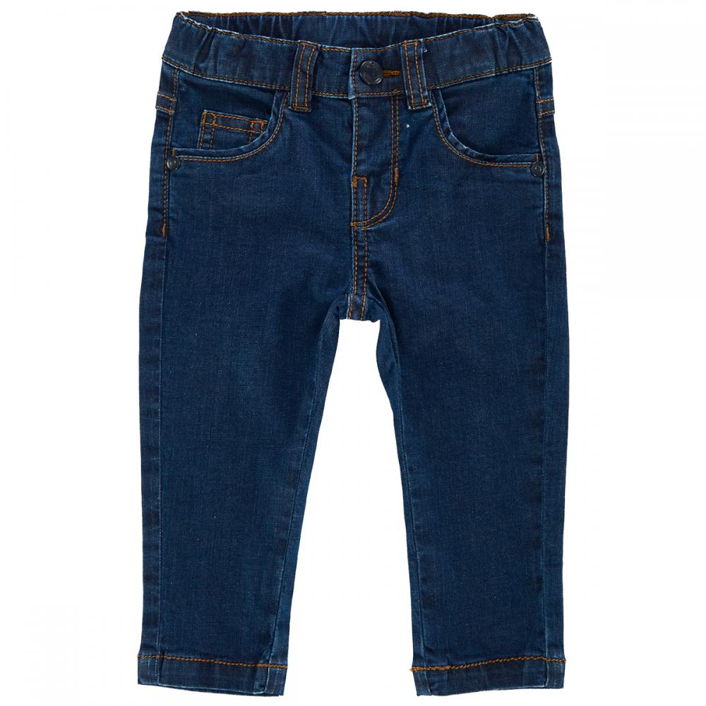 pantalon lung denim copii chicco, baieti, albastru inchis