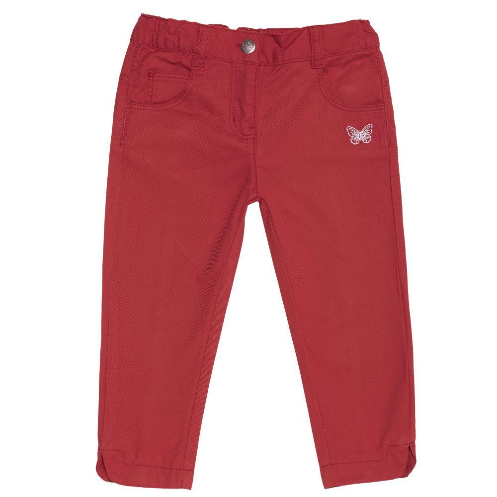 Pantalon lung pentru copii Chicco, fete, rosu, 24489