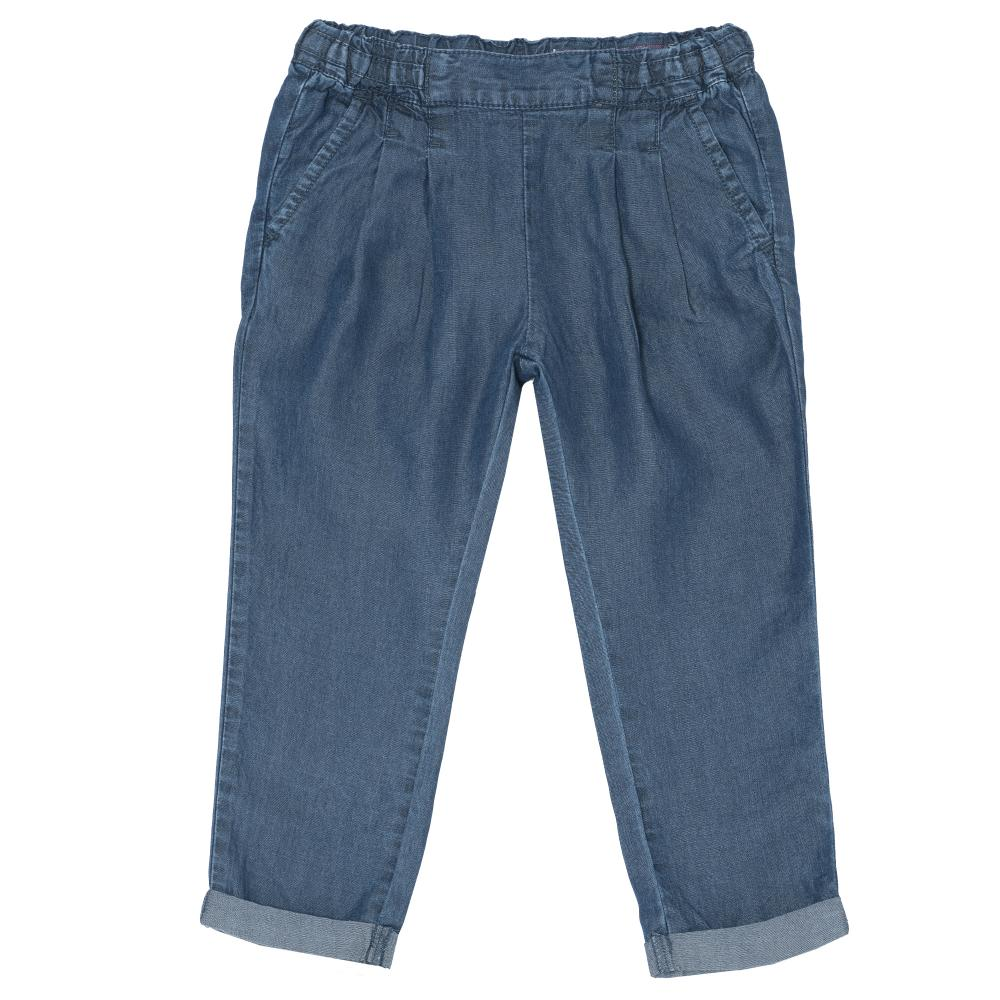 Pantalon lung copii, Chicco, fetite, denim