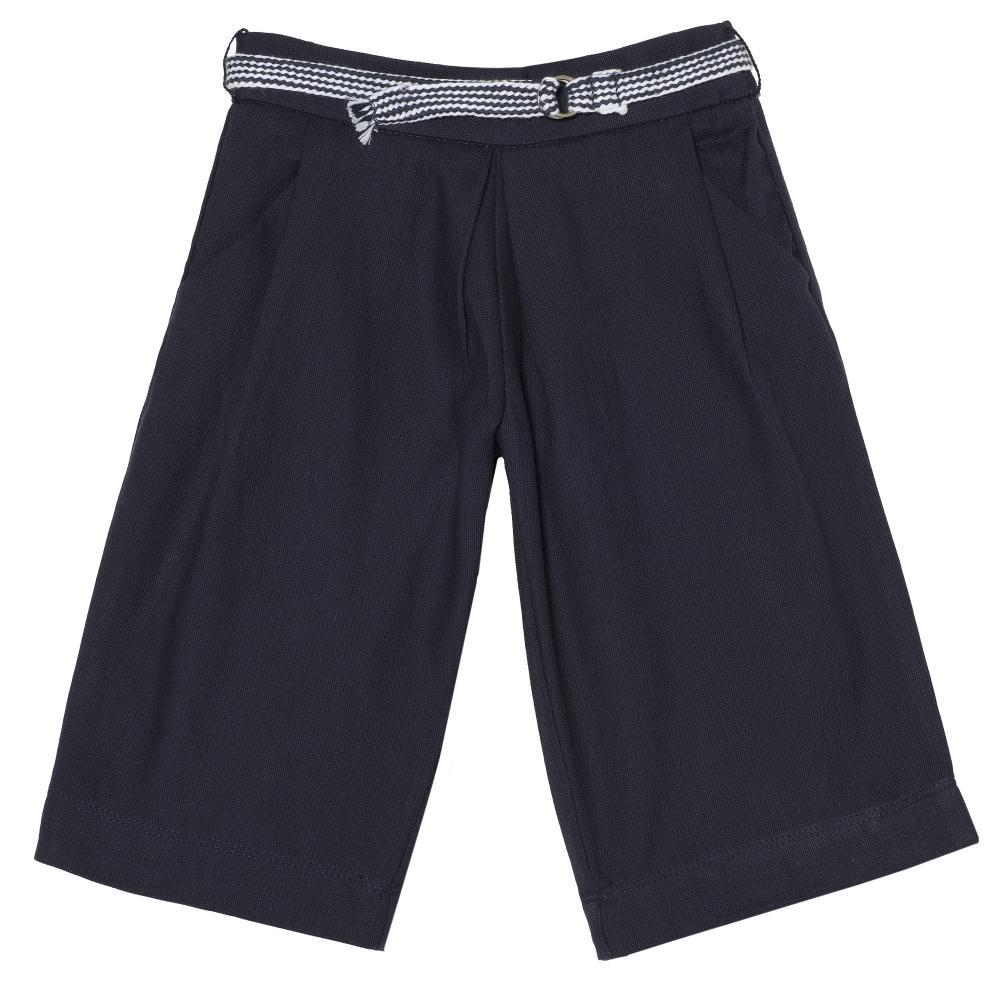 Pantalon lung fetite, Chicco, albastru inchis, 24509