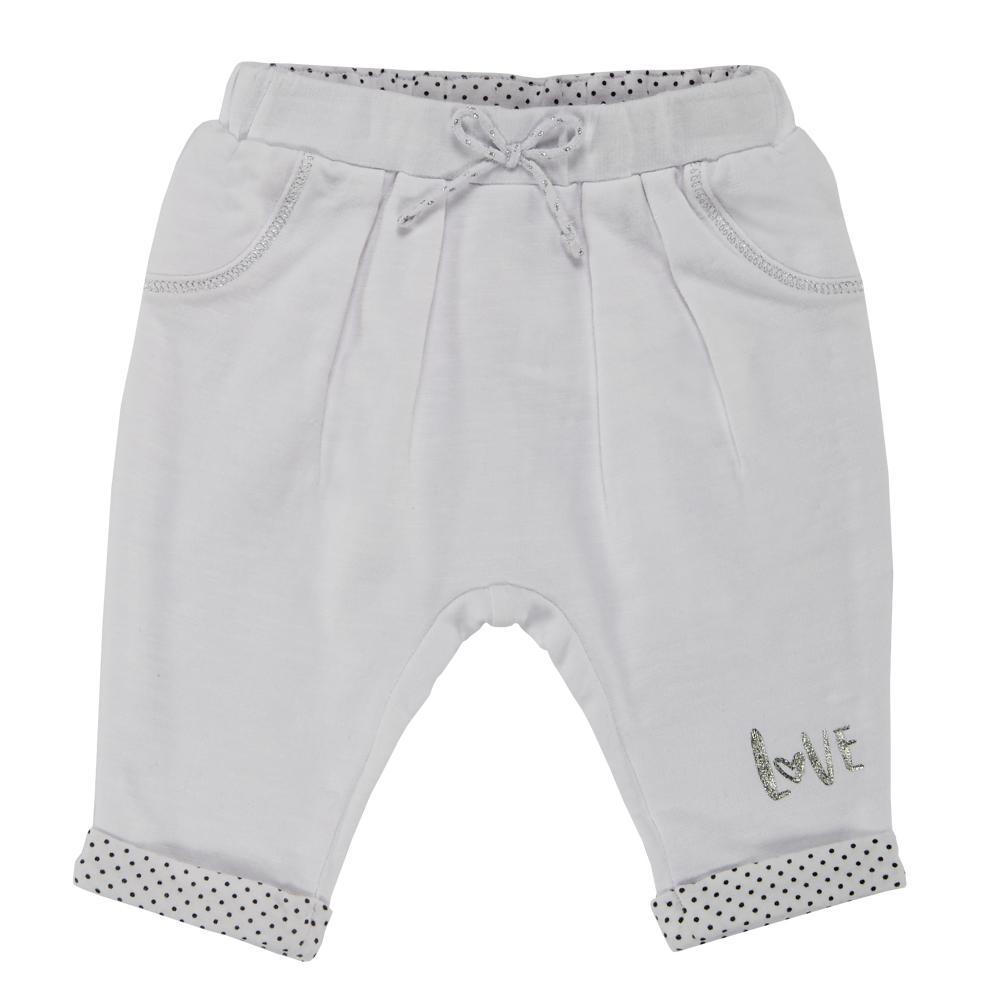 Pantalon lung copii Chicco, crem