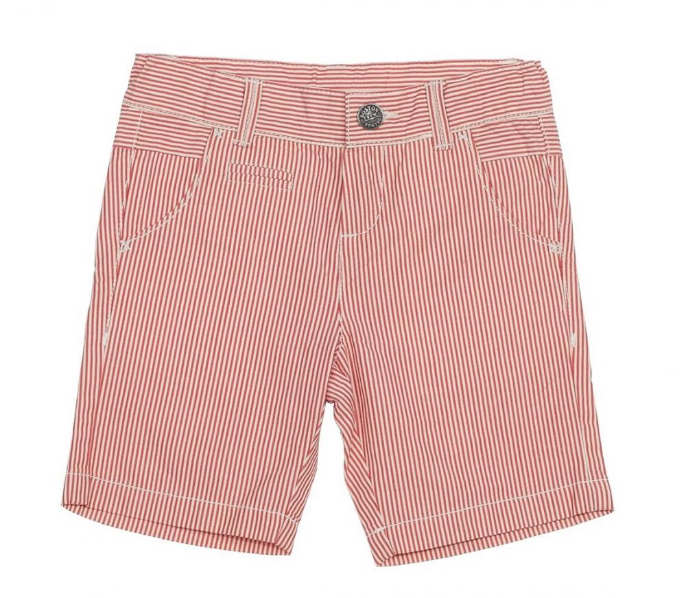 Pantalon scurt Chicco, alb cu rosu, 52519