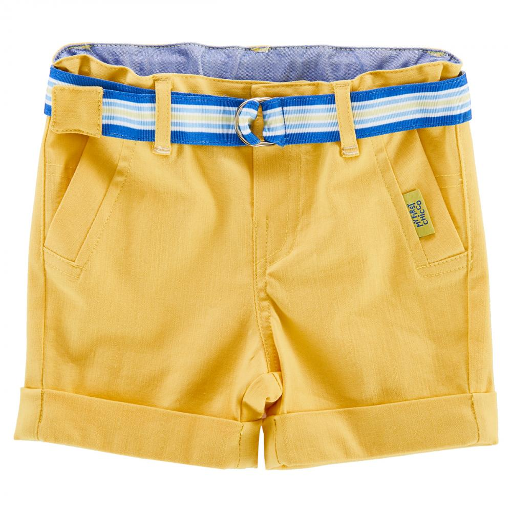 Pantalon scurt copii Chicco, baieti, galben