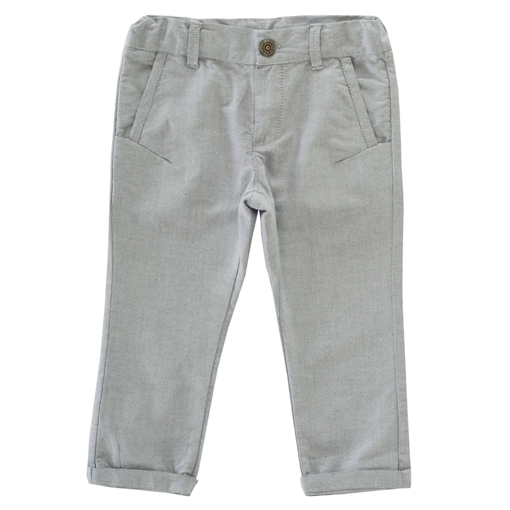 Pantalong lung copii Chicco, gri
