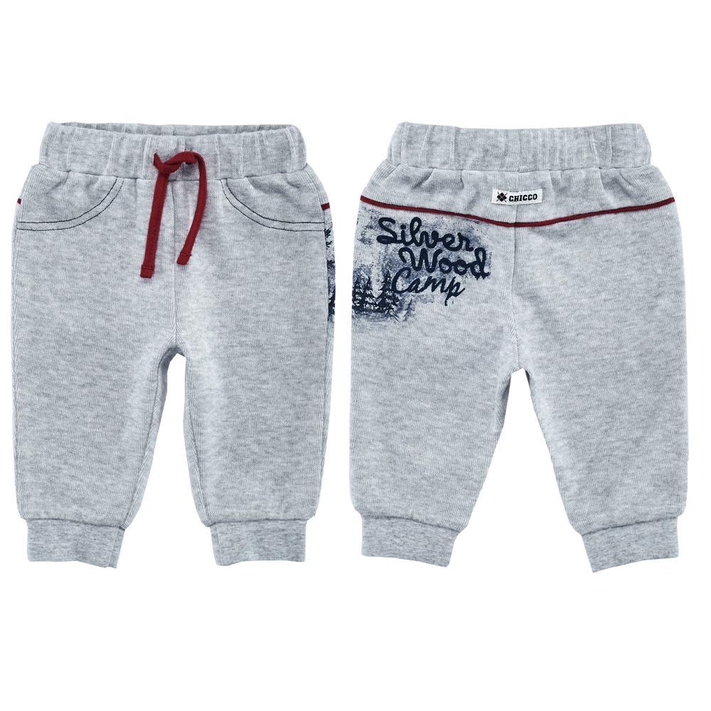 Pantaloni copii Chicco, gri deschis