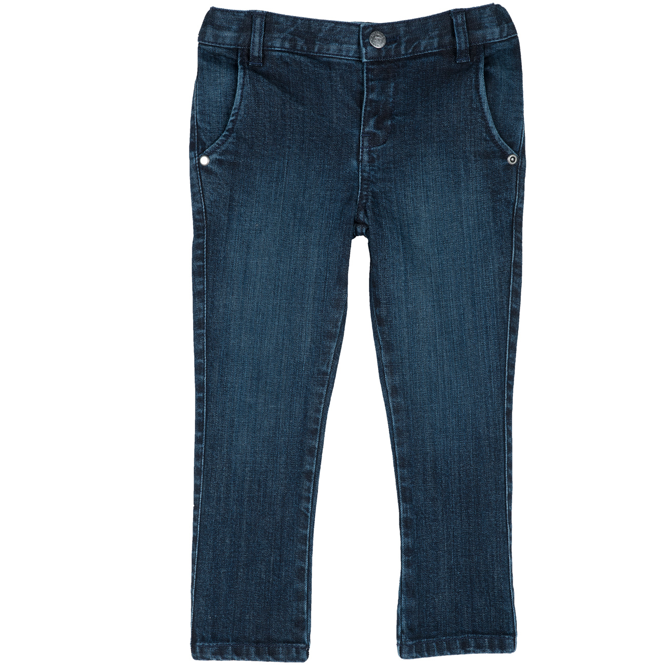 Pantaloni jeans copii Chicco albastru inchis 98