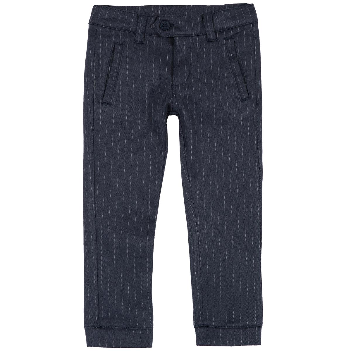 Pantaloni lungi copii Chicco, bleumarin cu dungi albe, 08046