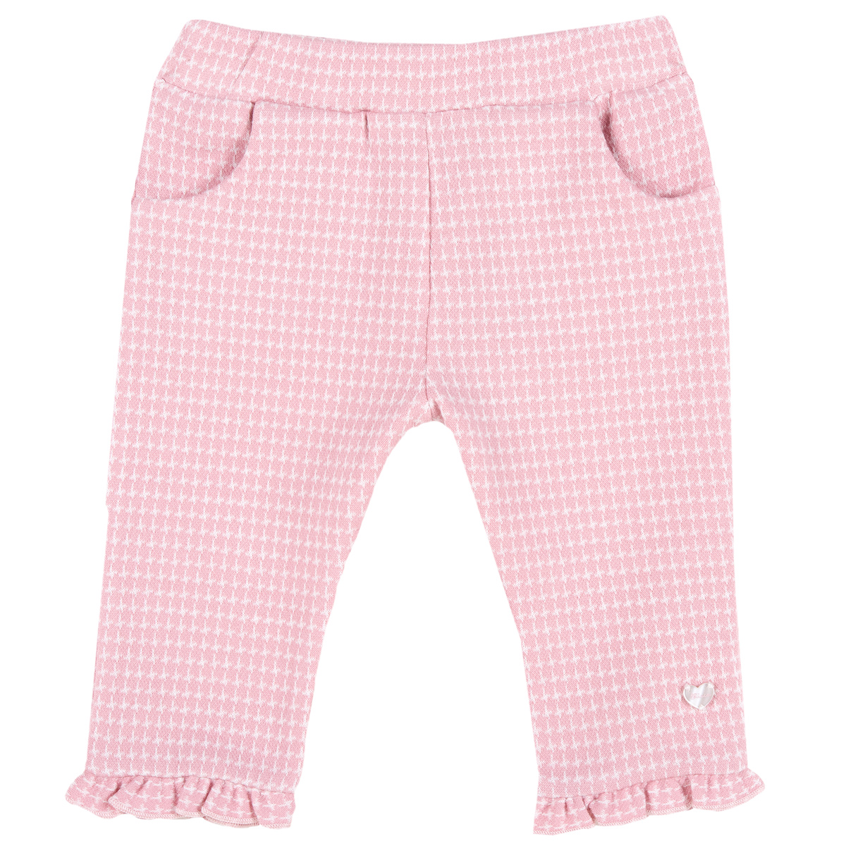 Pantaloni Lungi Copii Chicco, Volanas, Ciclamen, 08253 imagine