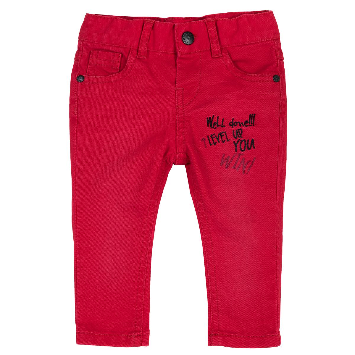 Pantalong lung copii Chicco, rosu, 08015 din categoria Pantaloni copii