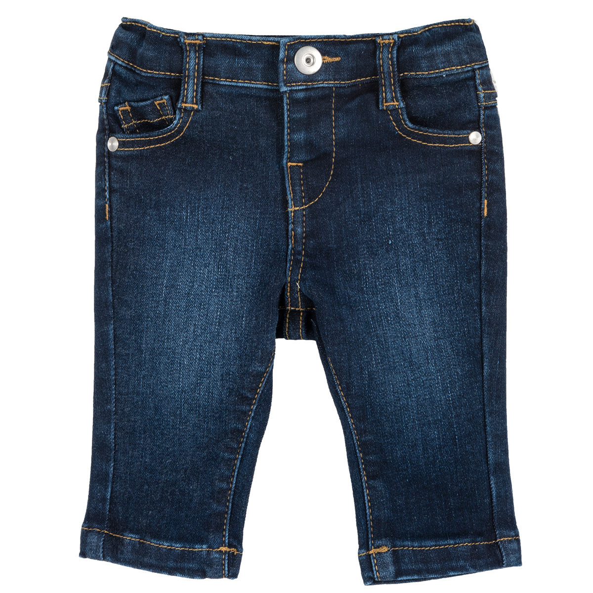Pantalon Lung Copii Chicco, Denim Elastic, Albastru, 08287 imagine
