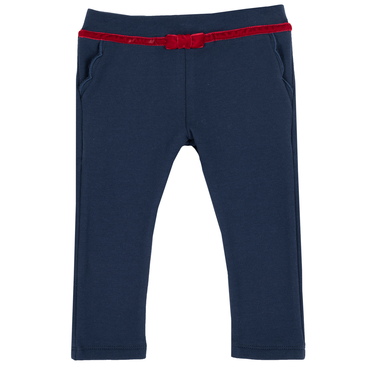 Pantalon lung copii Chicco, fundita catifea, albastru, 08049 din categoria Pantaloni copii