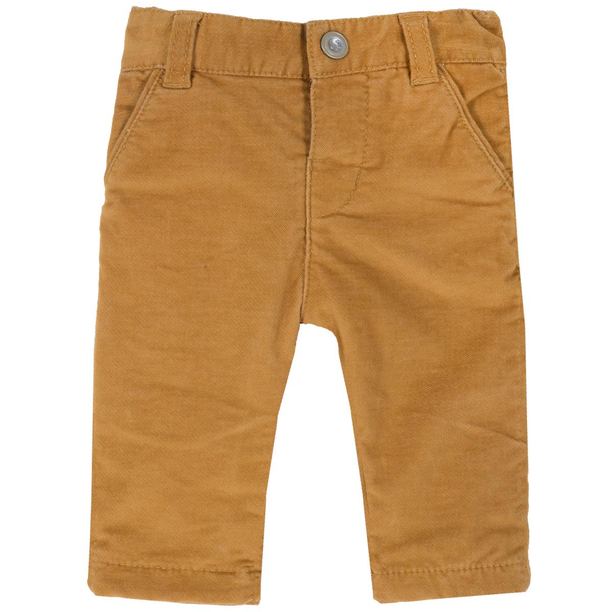 Pantaloni lungi copii Chicco, catifea stretch, galben, 94735 din categoria Pantaloni copii