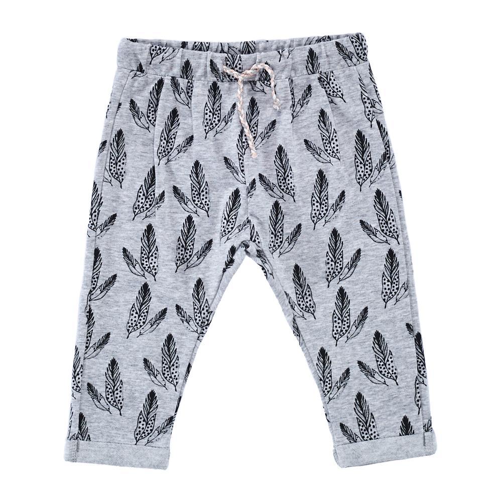 Pantaloni Lungi Copii Chicco, Gri Cu Model imagine