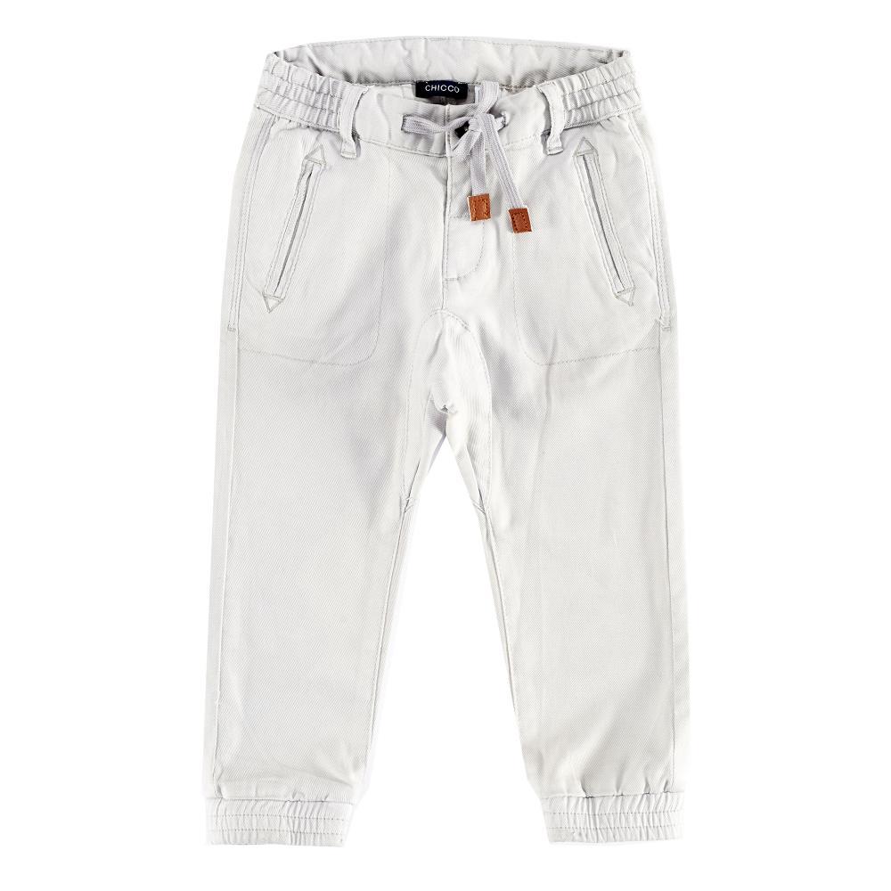 Pantaloni lungi copii Chicco, gri deschis