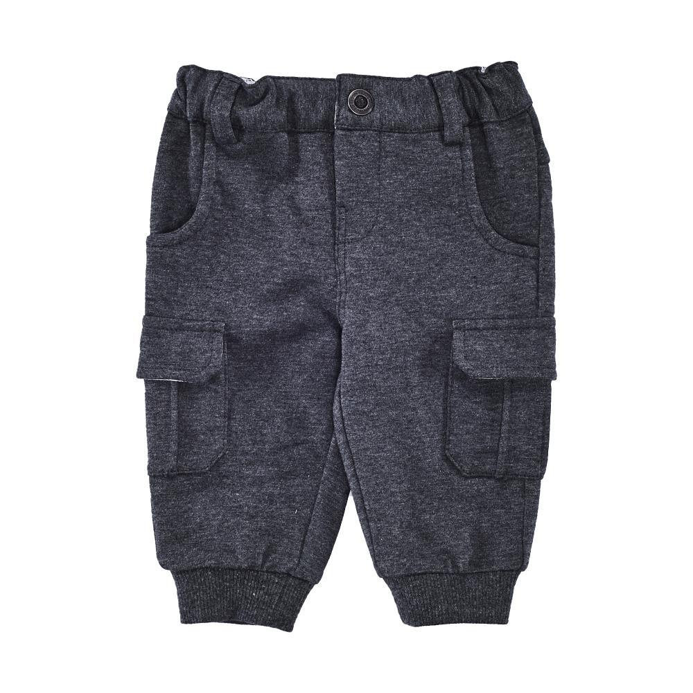 Pantaloni lungi copii, Chicco, negru cu albastru
