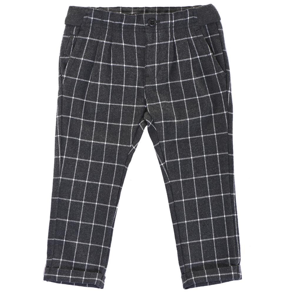 Pantaloni lungi copii, Chicco, negru cu dungi albe