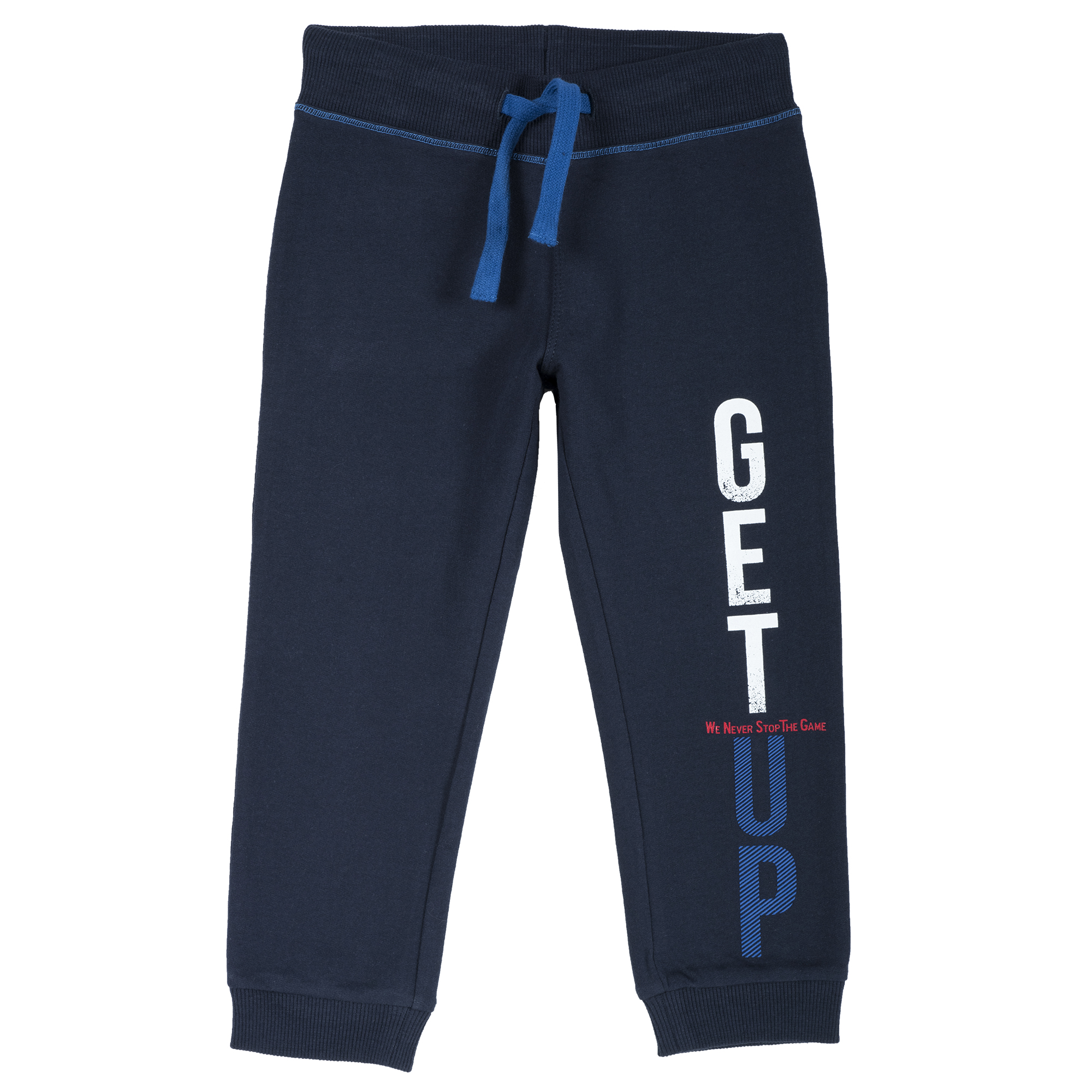 Pantalon trening copii, mansete elastice, albastru inchis, 24919