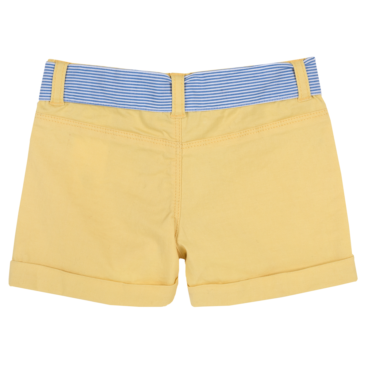 Pantaloni copii scurti Chicco, galben deschis, 52776