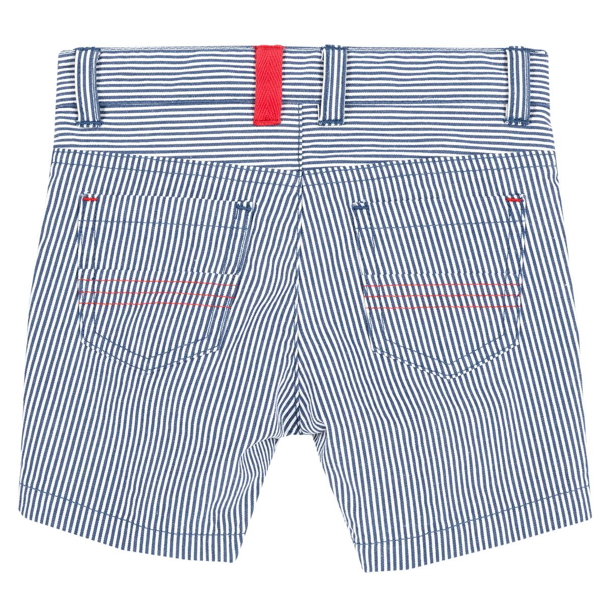 Pantalon Scurt Pentru Copii, Chicco, Alb Cu Bleumarin, 52864 imagine