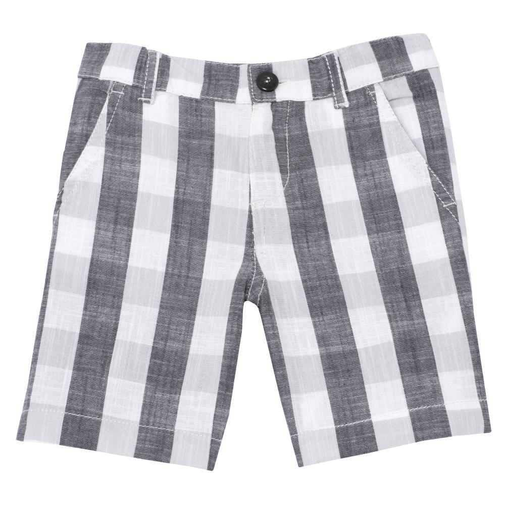 Pantaloni scurti copii Chicco, gri cu alb, 52602