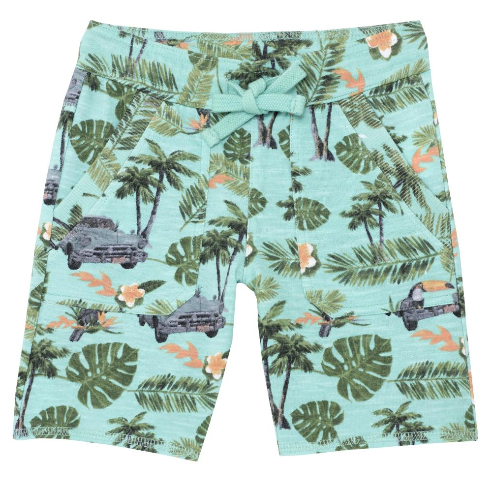 Pantaloni scurtii copii, Chicco, verde cu model, 52614