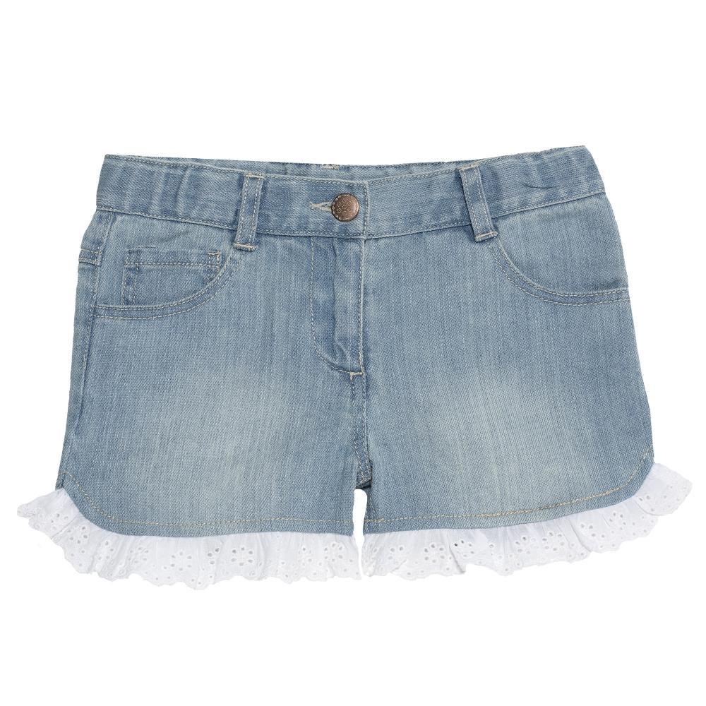 Pantaloni scurti copii Chicco, pentru fetite, albastru, 52628